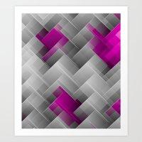 Hot Pink Geo Art Print