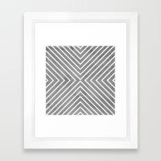 Stripes in Grey Framed Art Print