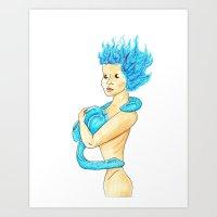 Eel Tits Art Print