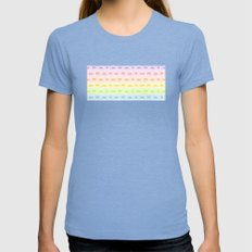 Pixel Invaders Womens Fitted Tee Tri-Blue SMALL