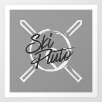 Ski Pluto Art Print