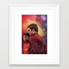 Star Trek: I have loved the stars too fondly to be fearful of the night Framed Art Print
