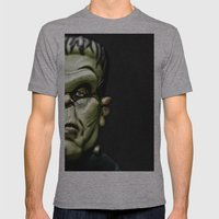Frankenstein Mens Fitted Tee Athletic Grey SMALL