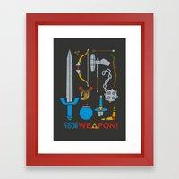 Choose Your Weapon Dark Framed Art Print