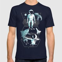 Space Between Mens Fitted Tee Navy SMALL