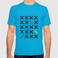 Minimalism 3 Mens Fitted Tee Teal SMALL