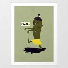 When Cannibals turn zombie Art Print