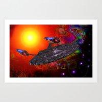 Enterprise NCC 1701E Art Print