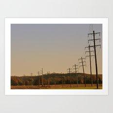 Telephone Lines Art Print