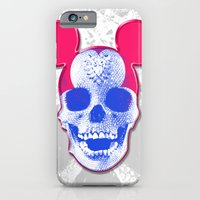 iPhone & iPod Case featuring Mickey Mouse Skullface (aka Norman Bates' Dad) by justlikeandy.co.uk Andy Warhol-style