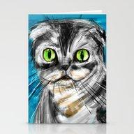 Scottish Fold Cat Stationery Cards