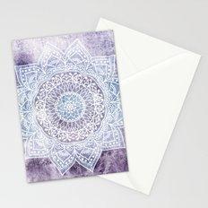 DEEP PURPLE MANDALA Stationery Cards