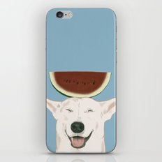 Watermelon doggy smile iPhone & iPod Skin
