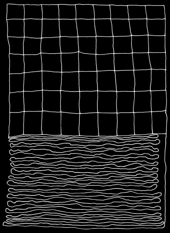 Hand Drawn Grid Canvas Print