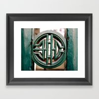 Ancient Seal Framed Art Print