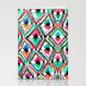 Watercolour Ikat Stationery Cards