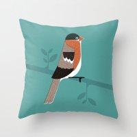 Raitán (Asturian Robin) Throw Pillow