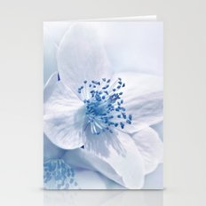 Spring white- blue 75 Stationery Cards