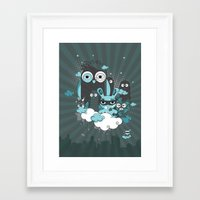 Nocturnal Friends Framed Art Print