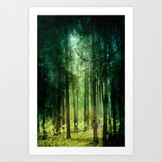 Enchanted light Art Print