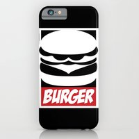 iPhone & iPod Case featuring Obey Burger by Charlton Yu