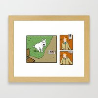 Snowy!! Framed Art Print