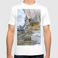 Yellowstone Hot Springs Mens Fitted Tee White SMALL