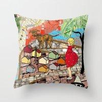 Urban Sightings Collage … Throw Pillow