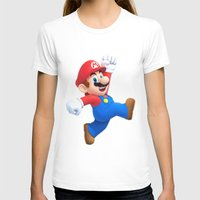 mario T-shirts featuring Mario by Maxvision