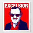 Stan Lee / Excelsior Art Print