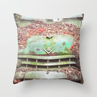 Old Chevy Blues Throw Pillow