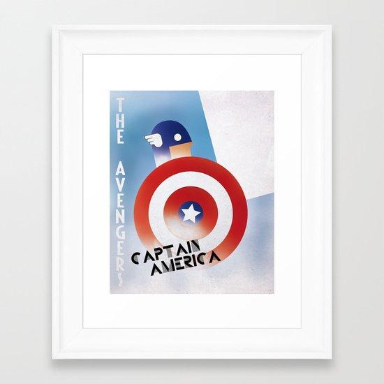CASSANDRE SPIRIT - Captain America Framed Art Print