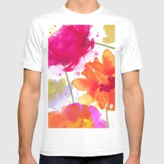 vive l'été! White Mens Fitted Tee SMALL
