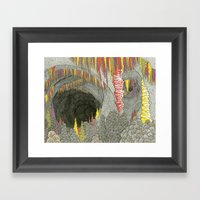 Color Cave Framed Art Print