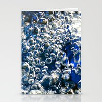 Blue Bubbles Macro photography River stream underwater abstract art bright bold vibrant color! Stationery Cards