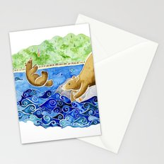 Baby Bear Takes A Tumble Stationery Cards