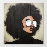 Venus Afro Canvas Print