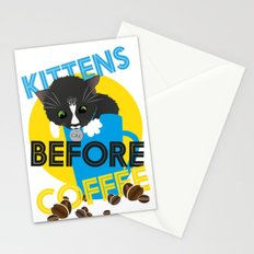 Kittens Before Coffee Stationery Cards