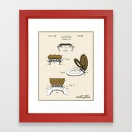 Toilet Seat And Cover Pa… Framed Art Print