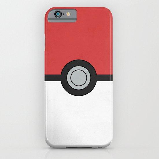 Minimal Pokéball Poster - Pokemon Classic iPhone & iPod Case