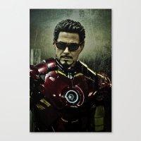 Tony Stark in Iron man costume  Canvas Print