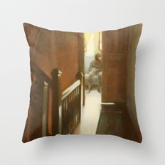 Across the Hall Throw Pillow