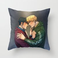 William And Theodore 01 Throw Pillow