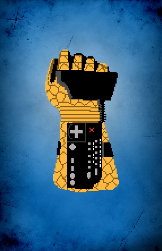 Power Glove Love: The Thing Canvas Print
