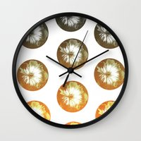 Rusty Circles Wall Clock