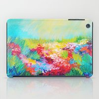 ETHERIAL DAYS - Stunning Floral Landscape Nature Wildflower Field Colorful Bright Floral Painting iPad Case