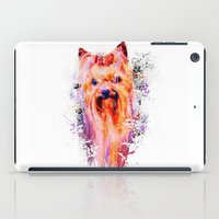 Drippy Jazzy Yorkshire Terrier Colorful Dog Art by Jai Johnson iPad Case