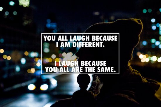 Being Different Art Print