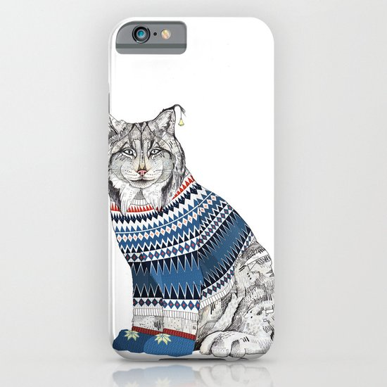 Christmas Lynx // Festive Furries No.1 iPhone & iPod Case