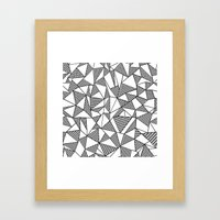 Abstraction Partial Grid Framed Art Print